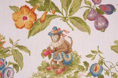 Novelty Prints :: Kaufmann Cheeky Monkey Printed Cotton Drapery Fabric in Palm $10.95 per yard - Fabric Guru.com: Fabric, Discount Fabric, Upholstery Fabric, Drapery Fabric, Fabric Remnants, wholesale fabric, fabrics, fabricguru, fabricguru.com, Waverly, P. Kaufmann, Schumacher, Robert Allen, Bloomcraft, Laura Ashley, Kravet, Greeff