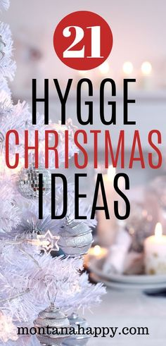 21 Hygge Christmas Ideas and Tips - Are you looking to start more holiday family traditions? You've come to the right place. The hygge lifestyle is all about Silver Christmas Decorations, Rustic Christmas, White Christmas, Christmas Ideas, Christmas Tree, Holiday Fun, Vintage Christmas, Mason Jar Flower Arrangements, Mason Jar Flowers