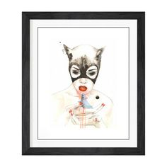 Lora Zombie // Cat // Framed Limited Edition