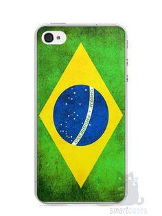 Capa Iphone 4/S Bandeira do Brasil - SmartCases - Acessórios para celulares e tablets :)