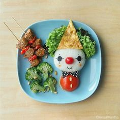 Lee Samantha's food-art - Happy Clown
