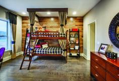 Beautiful rustic bedroom with bunk beds (Deerfield Lexington - Regency at Palisades, NC)
