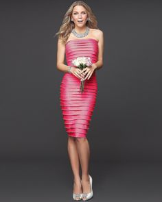 Pretty pink bridesmaid dresses so flattering they'll be able to wear them over and over again #bebe #bridal #weddingideas