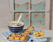 CuteinMiniature on Etsy: Miniature Making Blueberry Muffin Set