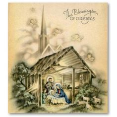 130 Best Christmas Vintage Nativity Cards Images On Pinterest