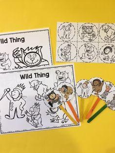 Free Wild Thing Puppet Sticks (Google Drive)