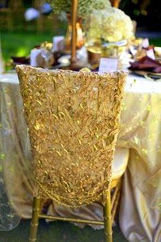 Unique chair cover #wedding