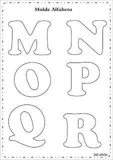 Molde Letras do Alfabeto | Ideia Criativa - Gi Barbosa Educação Infantil