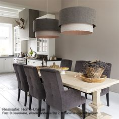 Binnenhuisarchitectuur grachtenpand landelijk wonen interieurarchitect - Oak monasatery dining table