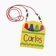 Back To School Name Tag Necklace Craft Kit (Makes 12)