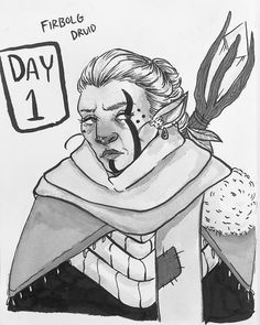 The World is still Ending Firbolgs in 2019 Dd Inktober