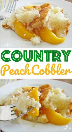 Country Peach Cobbler recipe from The Country Cook