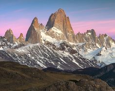 Cerro Fitz Roy in Argentine Patagonia at sunrise. As seen from El Chalten Los Glaciares National Park.  #nature #landscape #photooftheday #beauty #sunrise #instagood #picoftheday #amazing #bestoftheday #nofilter #awesome #landscapes #ig_landscapes #igworldclub #landscapesofinstagram #landscape_lovers #natgeo #earthpix  #natureaddict #travelgram #thebest_capture #beautifuldestinations #wonderful_places  #wonderful_places #worldshotz #earth_expo #jaw_dropping_shots  #southamerica #patagonia…