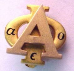 Alpha Phi Badge - 1966 - Delta Psi Chapter (Wisconsin-Oshkosh) - Plain yellow gold.