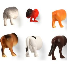 Kikkerland Farm Animal Butt Magnets, Set of 6