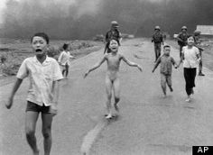 napalm victim - famous picture during vietnam war reminding americans what else was occurring over there