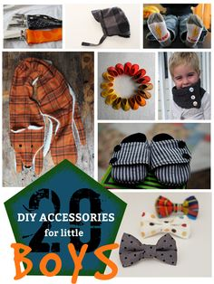 Certainly boys deserve to look just as stylish as girls, and with these 20 fantastic tutorials for DIY accessories for little boys, they definitely will! Love the fox scarf! Sewing For Kids, Baby Sewing, Diy For Kids, Lil Boy, Little Boys, Baby Boy Outfits, Kids Outfits, Diy Pour Enfants, Diy Couture