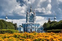 Smolny Palace in St.Petersburg, Russia.