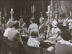 The Grand Banquet at Hearst Castle. It was reported that right after the last course that Millicent, Mr Hearst's wife, stormed out of the grand mansion, slamming open the front doors in such fury that the guests even heard it, summoned her limousine, drove to the Hearst private jet hangar, and flew in a fuming fury to New York. The cause of this: She had seen her husband whisper something to Marion Davies (whom he was having a very public affair with).
