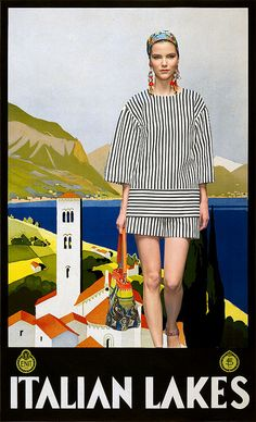 Dulce Dolce: colour comparisons between Dolce and Gabbana Spring 2013 + vintage travel posters.