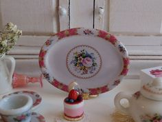 Lady Carlyle Rose Pink Porcelain Tray for by Twelvetimesmoreteeny, €4.50