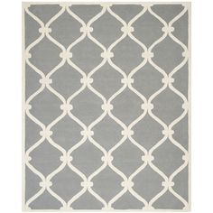 Deslauriers Hand-Tufted Dark Grey Area Rug