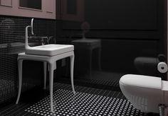 Ciekawie zaprojektowana łazienka. Projekt: Studio Lukaszkosakowski.com