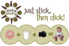 Picky Sticky Baby Photo Onesie Milestone Stickers: http://www.amazon.com/Picky-Sticky-Onesie-Milestone-Stickers/dp/B00466YF9Q/?tag=headisstrandh-20