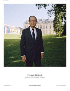 Le portrait officiel de François Hollande, 24e président de la République par Depardon! | Le documentation française / Magnum photos