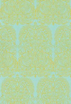 Alpana (69/2107) - Cole & Son Wallpapers - Alpana (S.K.Data 1971): An Astec style design from the 70s with an unusual repeat giving width and glamour in an easy to use paste the wall wallcovering. Please order sample for true colour match.