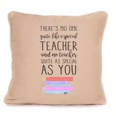 Personalised Thank You Teacher Gift For End Of Term Cushion With Pad Included. This personalised cushion is the perfect gift for a teacher for end of term to say thank you for all of their efforts. Thank You Teacher Gifts, Your Teacher, End Of Term, Thankful, Cushions, Sayings, Modern, Christmas, Ebay