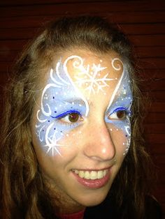 Face Painting by Jennifer Van Dyke - winter princess