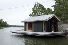 Container house on the water