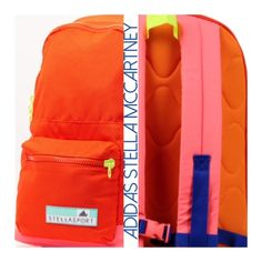 ❌SOLD❌ Stella McCartney for Adidas Backpack ADIDAS STELLA SPORT Backpack Description: maxi, techno fabric, multicolor pattern, logo detail, external pockets, zip closure, internal pockets, lined interior, Composition: 100% Polyester Color:  Coral Adidas by Stella McCartney Bags Backpacks