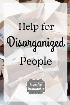 All the posts in the organization series:  {Help for Disorganized People: Part 1} {9 Reasons You Procrastinate} {Overcoming Roadblocks to Organization} {Overcoming Roadblocks to Organization: Part 2} {What to Do When You Get Off Track} {Getting Started}