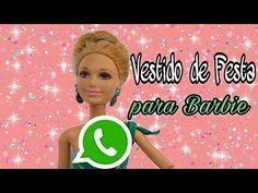 Vestido De Festa Whatsapp Para Barbie Youtube Padroes De Boneca Gratis Roupas Para Barbie Roupas Para Bonecas Barbie