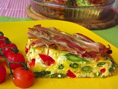 Easter Frittata Shared on https://www.facebook.com/LowCarbZen