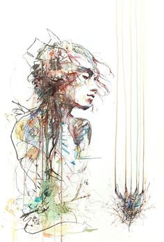 Human and floral forms, by Carne Griffiths