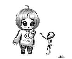 Resultado de imagem para desenho de alien