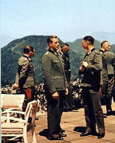 Third Reich High Ranking Officials At The Terrace Of Berghof 1944 Hitlers Aide