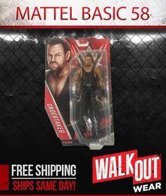 UNDERTAKER WWE MATTEL BASIC SERIES 58 ACTION FIGURE TOY (BRAND NEW) #WWE