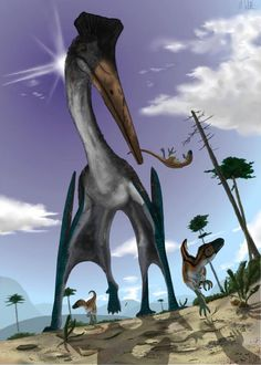 Pterosaur hunting is illustrated. Credit: Illustration by MARK WITTON, School of Earth and Environmental Sciences, University of Portsmouth - Related: Tricky take-off kept pterodactyls grounded - http://www.eurekalert.org/pub_releases/2014-11/sovp-ttk102714.php
