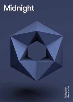 Dark blue poster design Source by cdecentreville . Elements Of Design Shape, Shape Design, Design Art, Graphic Design, Geometric Shapes Art, Geometric Poster, Geometric Sculpture, 3d Shapes, Plakat Design