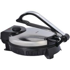 The Brentwood Appliances Stainless Steel 10 in. Nonstick Electric Tortilla Maker cooks perfectly round and authentic tortillas. Adjust the heat for soft or crispy tortillas. Nonstick aluminum plates are easy to clean. This appliance can also c Stainless Steel Appliances, Small Appliances, Brushed Stainless Steel, Kitchen Appliances, Tortilla Maker, Tortilla Press, Breakfast Sandwich Maker, Gotham Steel, Steamer Recipes