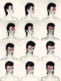 David Bowie, Aladdin Sane Proof Shoot.