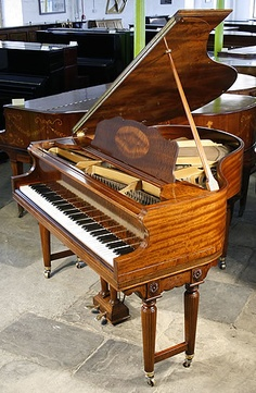 A Weber baby grand piano with a sapele, mahogany case at Besbrode Pianos £5500.  http://www.besbrodepianos.co.uk/piano-sale/weber-baby-grand-piano-1.htm