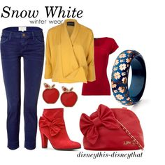 Snow White-winter, created by disneythis-disneythat on Polyvore