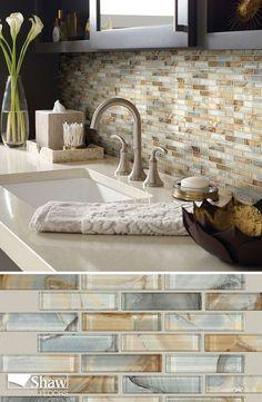 Amazing Mercury Glass Kitchen tile Backsplash ideas