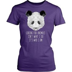 If you love pets & animals then Caring for animals isn't what I do it's who I am tee or hoodie is for you! Custom Men Women Animal Rescue inspired t-shirts & apparel by TeeLime.