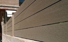 Vallado de madera sintetica exterior sin mantenimiento.  http://www.neoture.es/productos/cerramientos/neoblock/
